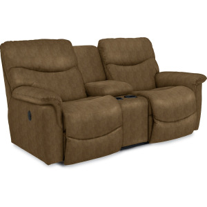 James La-Z-Time Full Reclining Loveseat w/ Console