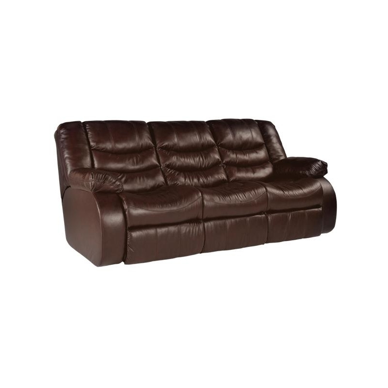 Revolution Burgundy Leather Reclining Sofa